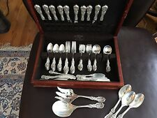 MAGNIFICENT REED AND BARTON FRANCIS 1ST STERLING FLATWARE SET 81 Pieces Old Mark