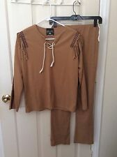 Indian brave girls costume,universal studios, szXl dancing W Wolves,ultra suede