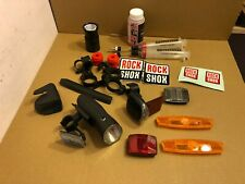 Selection of Bicycle Accessories, Rockshox Fluid, Reflectors, Lights, Brackets