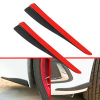 Carbon Fiber Style Bumper LIP Corner Side Scratch Protector Strip Guard 287*51MM