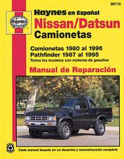 Nissan/Datsun Camionetas Haynes 99110 Manual de Reparaci�n: Camionetas