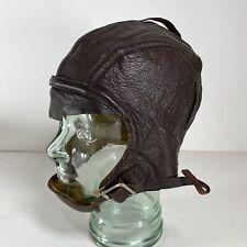 Original WW2 Navy Pilot Flight Leather Helmet NAF 1092 Slote & Klein NOM-37824