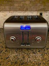 Kitchen Aid KITCHENAID 4 WIDE SLICE Toaster Stainless Steel BREAD BAGEL EUC