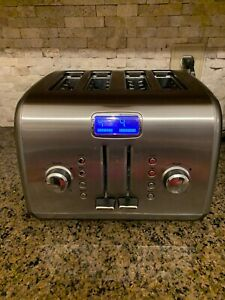 Kitchen Aid KITCHENAID 4 WIDE SLICE Toaster Stainless Steel BREAD BAGEL EUC