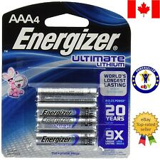 4 Pcs AAA Energizer Lithium Battery L92BP4 batteries. Expiration: 2035