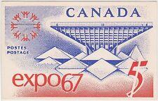 (USO-217) 1967 Canada 5c postcard postage paid expo 67 (217HD)