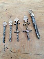 5 antique original  sash/table brass and iron  thumbscrews