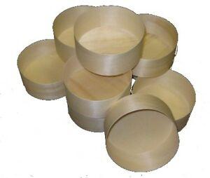 Medium Wooden Cheese Boxes - pack of 12
