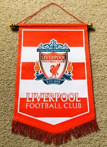 LIVERPOOL FC Pennant (36x 24cm) SoccerClub Hang Flag Great For Bar /Home /Office
