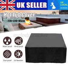 More details for hot tub spa cover cap guard outdoor waterproof dust protector case 7.9×7.9×2.8ft