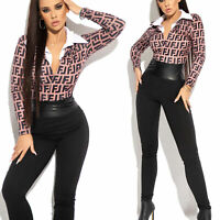 BY Alina MEXTON Damenoverall Einteiler Catsuit Overall Jumpsuit 34 - 38 #D407