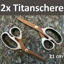QMBasic 2-er Scheren Set Haushalt Küchenschere | Precision Pro Titanium Schere