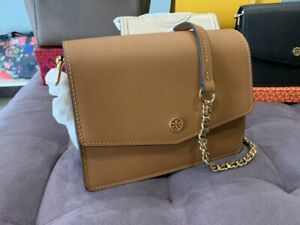 ON HAND Authentic TORY BURCH ROBINSONS CONVERTIBLE SHOULDER BAG - BROWN