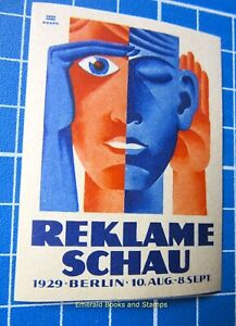 Cinderella/Poster Stamp - GERMANY 1929 - Reklame-Schau BERLIN - 4482