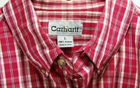 Carhartt Mens Red Plaid 100% Cotton Short Sleeve Pocket Shirt Size Large