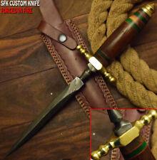 LOUIS MARTIN RARE CUSTOM HANDMADE DAMASCUS HUNTING BOOT DAGGER KNIFE WALNUT WOOD
