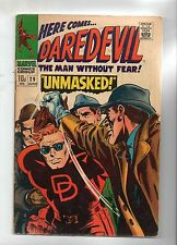 DAREDEVIL # 29 / V.GOOD+ / UK PRICE VARIANT 1967 / UNMASKED.