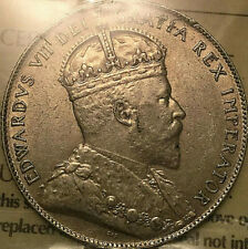 1908 NEWFOUNDLAND SILVER 50 CENTS FIFTY CENTS COIN - ICCS AU-55