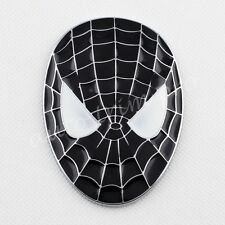 3D Sticker Decal Black Spider-Man Emblem Badge Car Bike Vehcile Parts Garnish