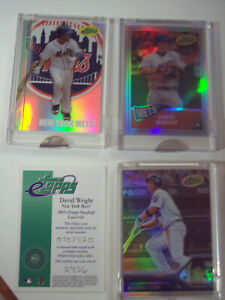 LOT OF 3 DAVID WRIGHT ETOPPS CARDS (2005,2006,2008) - NEW YORK METS