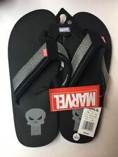 MARVEL  Men's BLACK Flip-Flop Sandals Size Large 10.0-11.0 New With Tags