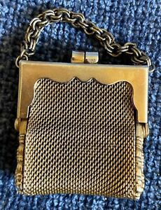 Gorgeous Antique Silver plated Purse Doll Accessory