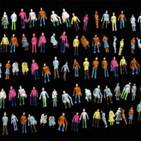 100 pcs. painted N Scale Model Figures standing 1:160 & 1:150 scaled small model