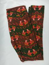 NWOT LuLaRoe Christmas Holiday Legging 2017 TC  Chevron Santa Reindeer Sled Rare