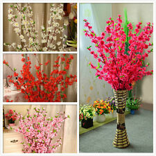 10xArtificial Cherry Spring Plum Peach Blossom Branch Silk Flower Tree Decor  NK