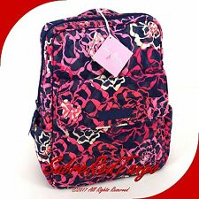 NWT VERA BRADLEY QUILTED SMALL PETITE BACKPACK BAG PURSE FLORAL KATALINA PINK