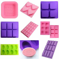 Silicone Handmade Soap Mould Cake Chocolate Jelly Pudding Mold Baking Tools DIY