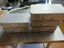 More details for 5 small grundy tins with lids 26cm x 13cm x 8cm deep