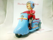 Vintage Wind-up Toys (Tin Toys), MS6037 - KING SCOOTER - Free Shiping.