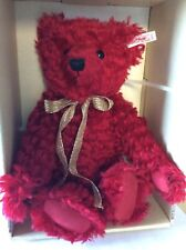 "Steiff 11"" Hong-Kong Romantic Curly Red Mohair Teddy Bear Limited Edition"