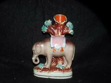 """ANTIQUE STAFFORDSHIRE ELEPHANT SPILL VASE  APPX. 6"""" TALL RARE"""