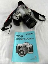 Canon EOS 500N 35mm SLR Film Camera 28-80mm Lens, Canon Strap & Manual. UNTESTED