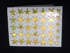 105 shiny sparkle gold star stickers children reward craft school teacher