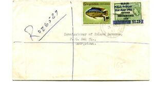 "Guyana 1983 registered cover from Wakenaam ""WAKENAAM DISTRICT COUNCIL"""