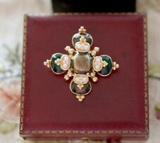 Vintage Jewelry Cross Brooches Antique Dress Jewellery