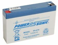 Power-Sonic 6 V Rechargeable Batteries 7Ah Ampere-Hours