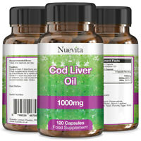 Cod Liver Oil 1000mg x 360 Capsules High Strength 4 Months Supply