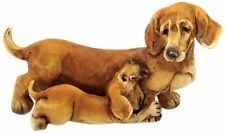 Dachshund and Puppy Figurine(4126) Enchanted Story Fairy Garden NEW