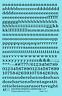 K4 O Decals Black 1/4 Inch Lowercase Railroad Roman Letter Number Alphabet Set