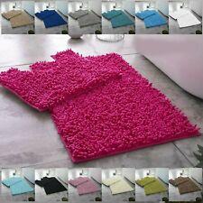 Memoria brillante 2 PC Baño Esteras Alfombra de Baño /& Pedestal conjuntos Alfombra de Baño Antideslizante Suave