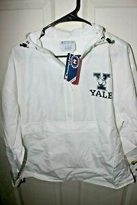 Yale University Champion Packable Jacket White Large L NWT