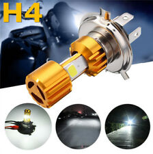 H4 6000K White COB LED Hi/Lo Beam Motorcycle Headlight Front Light Bulb DC12-24V