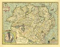 Davids Pembroke Replica giclée PRINTED Speed Old Map 1610 Pembrokeshire St