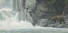 "Robert Bateman -  Fishing Hole  -  180 S/N Giclee  on  Canvas    12"" x 24"""