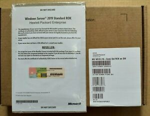 GENUINE ORIGINAL HP ROK Microsoft Windows Server 2019 Standard EN (NEW - SEALED)