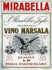 "MIRABELLA - P. MIrabella & Figlio - MARSALA "" VINO MARSALA "" QUALITA' I.P."
